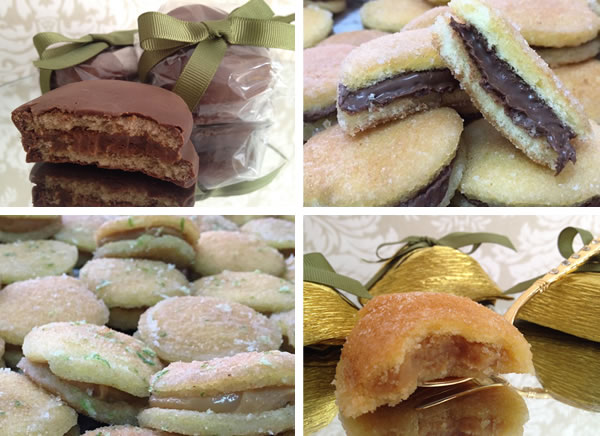 bem casados de Nutella - Chocolate - Raspas de Limao - Damasco
